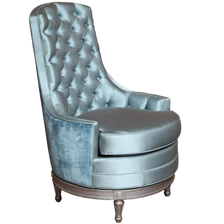 Louis XVI Antique Swivel Slipper Chair   Prudence Designs U0026 Events    Prudence Designs U0026 Events