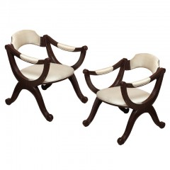 American Empire Revival Armchairs
