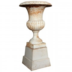 Neoclassical Cast Iron Urn on pedestal c.1800